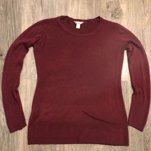 Wine Burgundy Long Sleeve Sweater